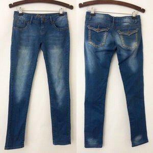 Crunch Faded Skinny Jeans